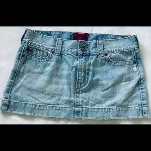 Hollister Denim Jean Mini Skirt Juniors Size 7